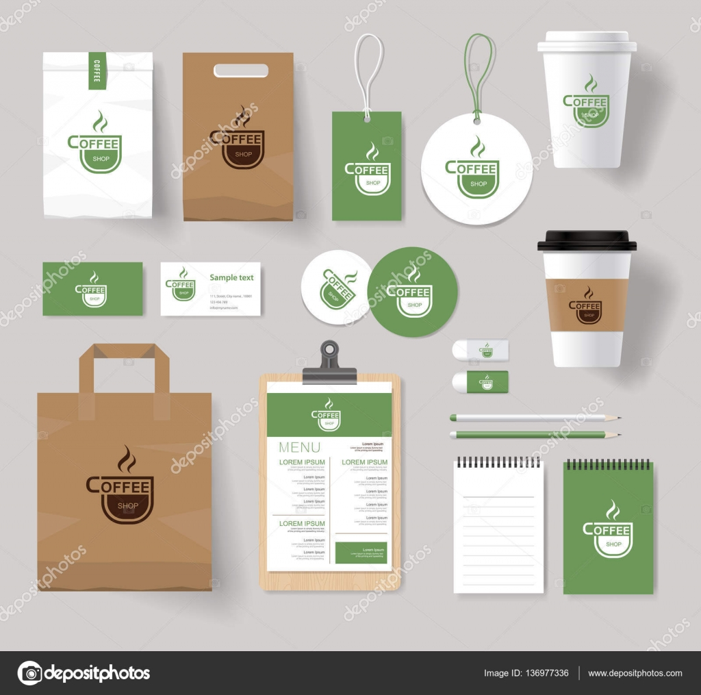 corporate branding identity mock up template for coffee shop and ...