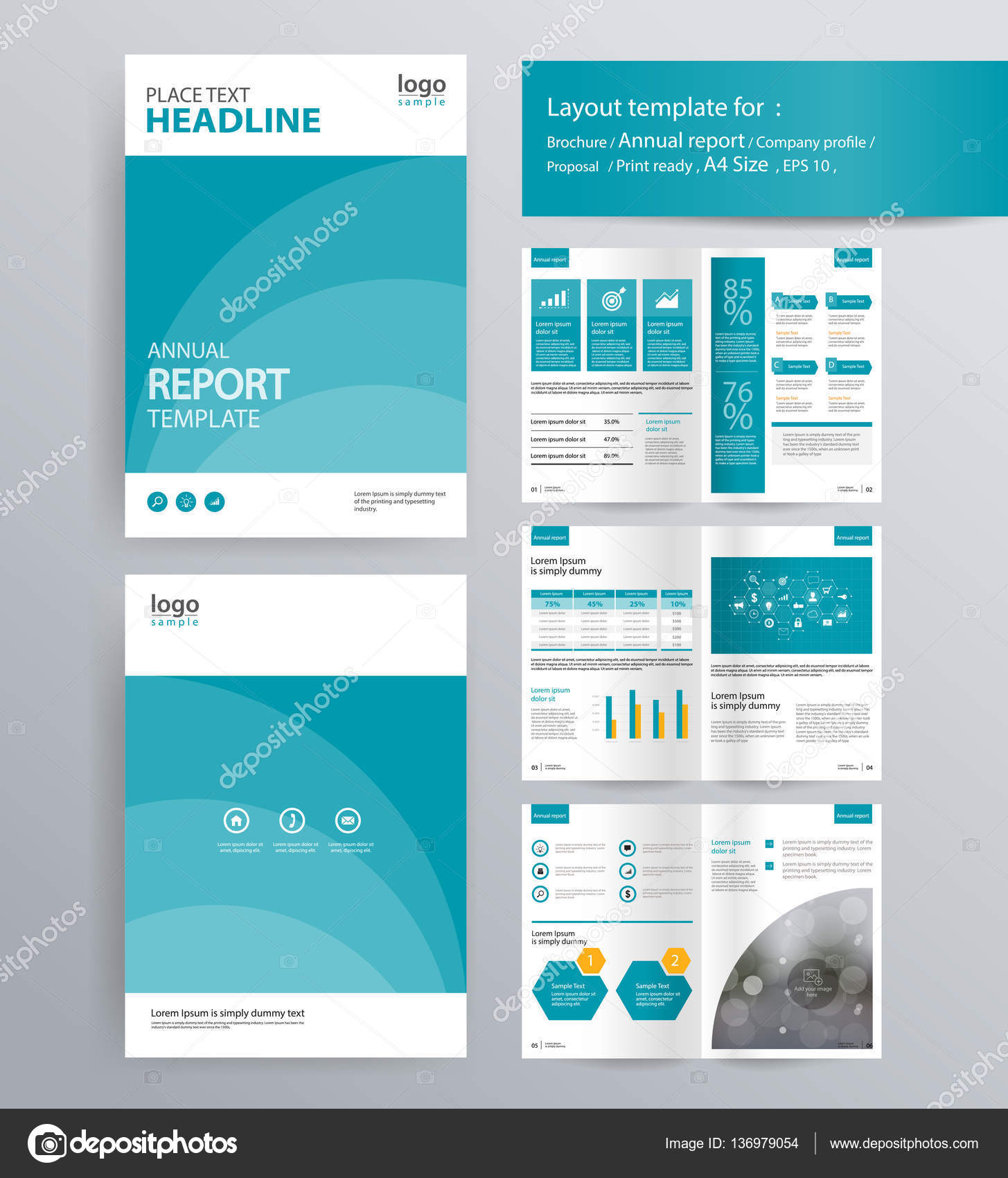 company profile, annual report, brochure, and flyer layout template ...