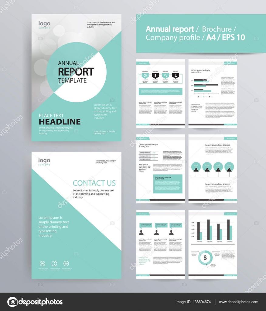 Seiten-Layout für Firmenprofil, Geschäftsbericht, Broschüre und ...