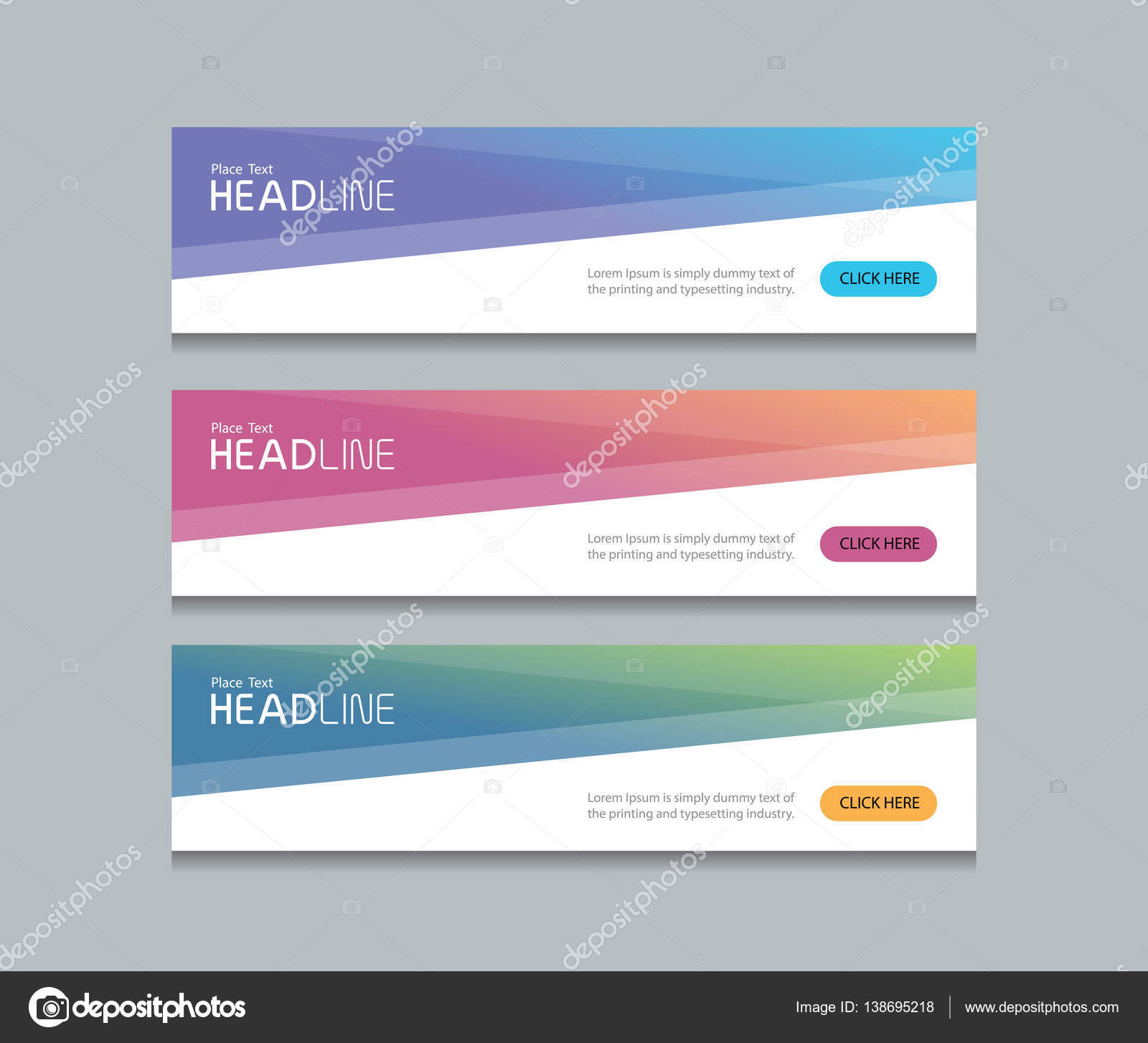 abstract web banner design background template — Stock Vector ...