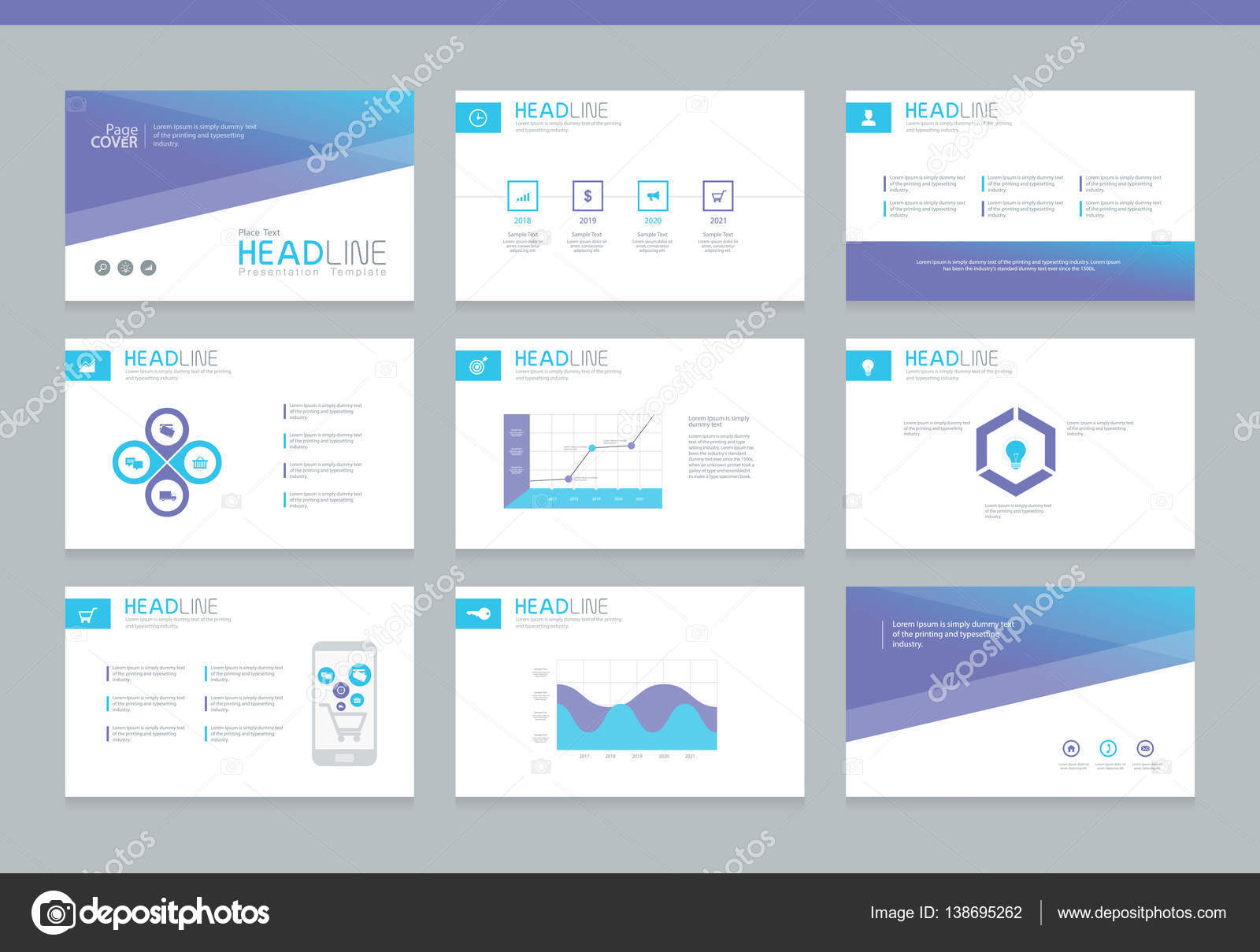 business powerpoint presentation background design template stock