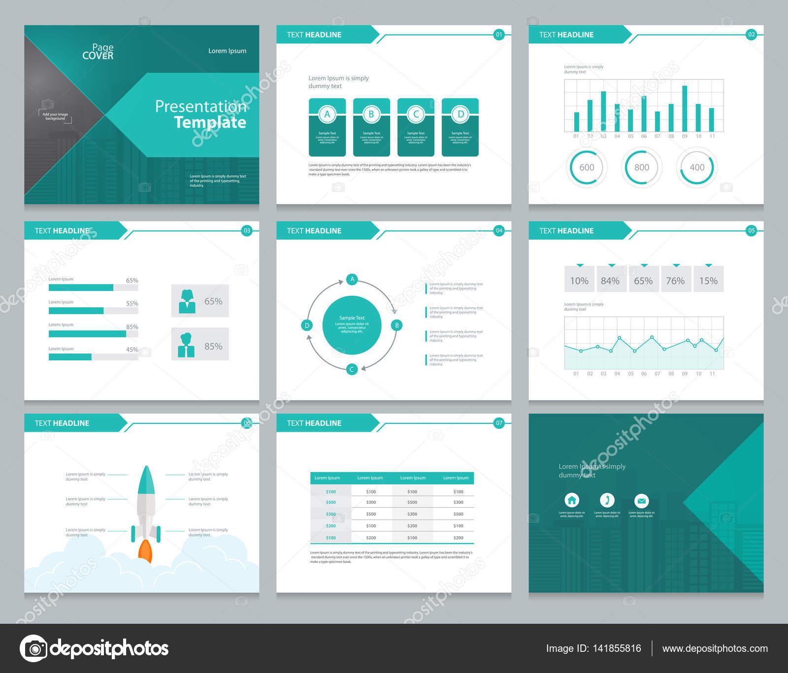 Plantilla de diseño de diseño de página de presentación del negocio ...