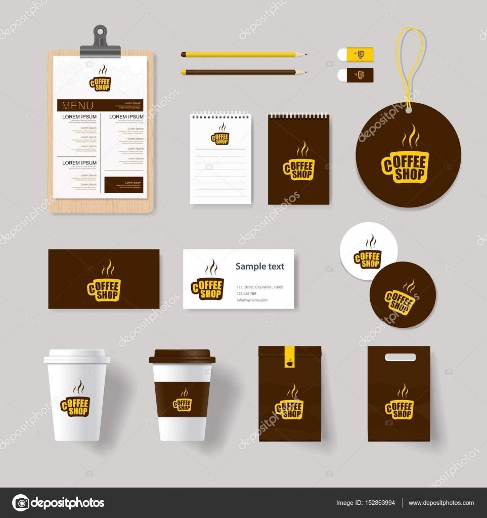 identidad de marca corporativa para cafetería y restaurante se ...