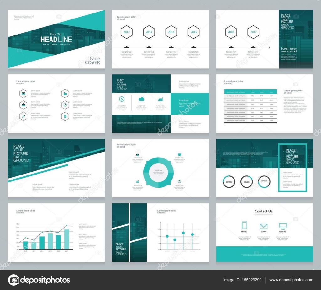 Business Präsentation Design Vorlagen und Seitenlayout mit Cover ...