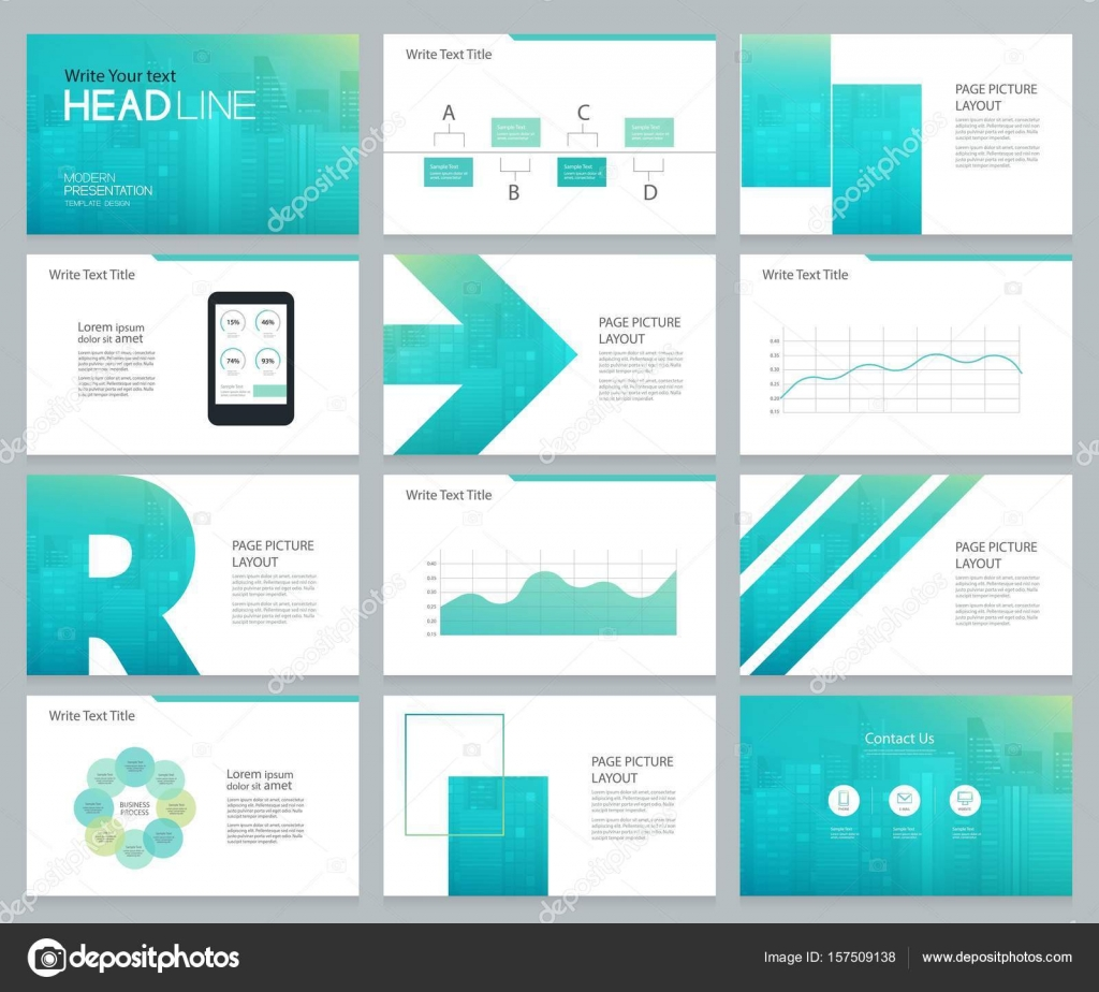 Presentation and slide layout template design vector image.