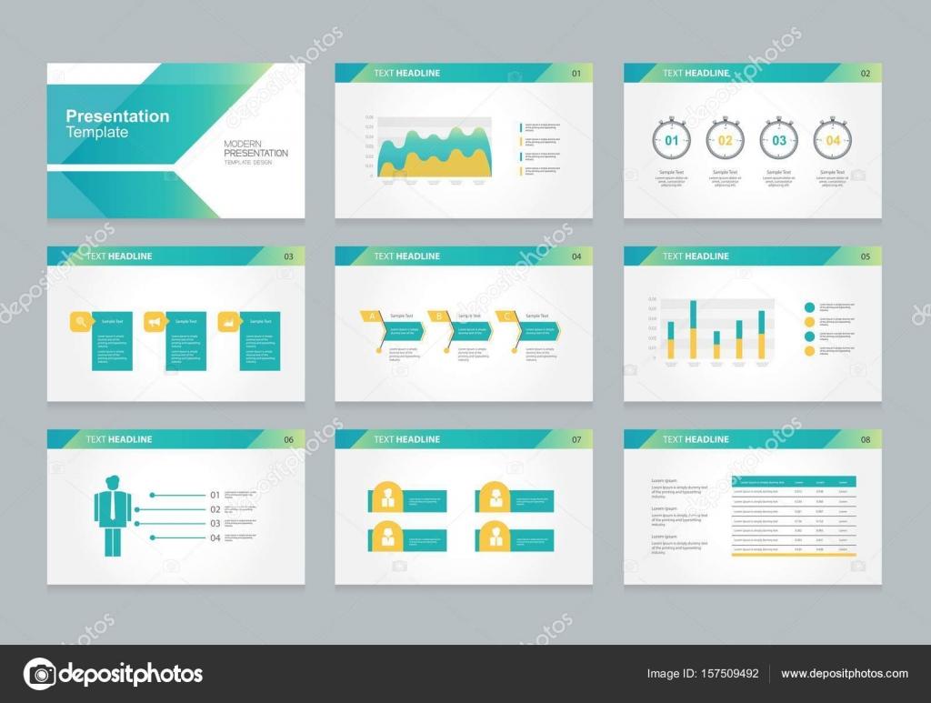 Vector template presentation slides background design. Info graphs.