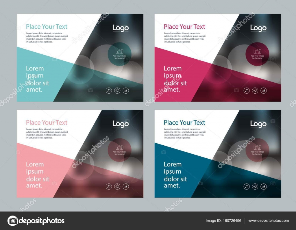 template design for social media and web banners background stock