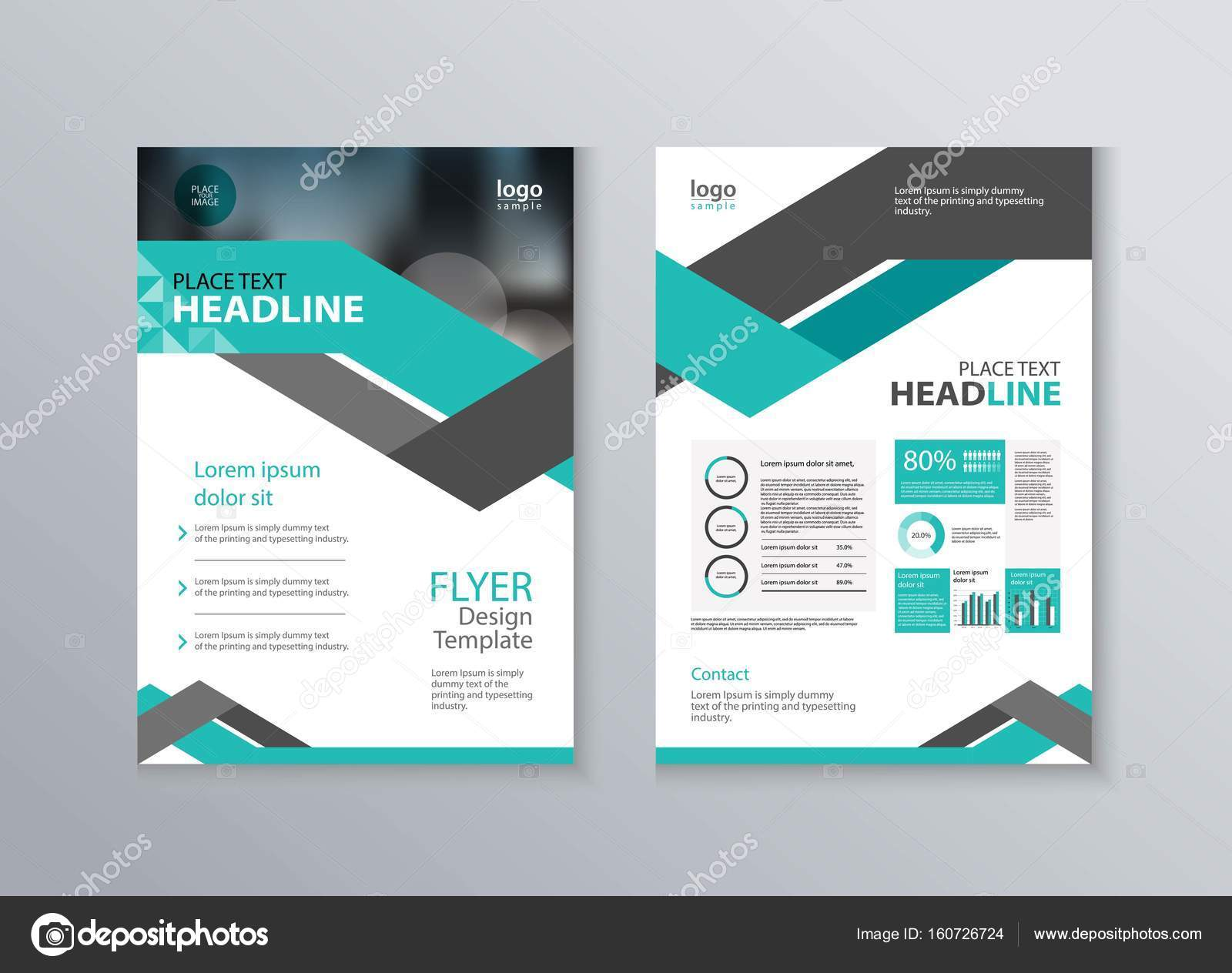 Unternehmens-Broschüre und Flyer Design-Vorlage — Stockvektor ...