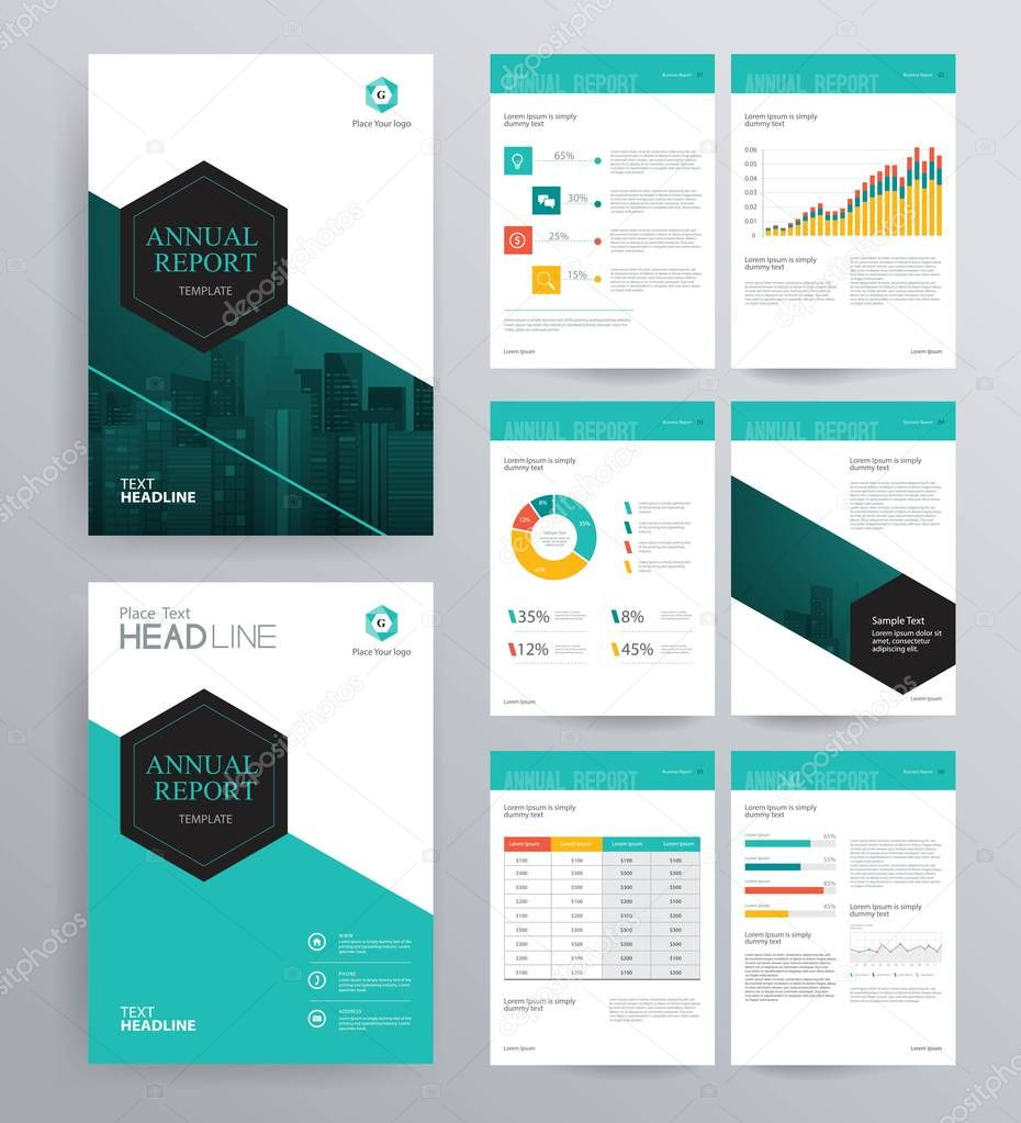 Company Profile Design Template: 会社案内、アニュアル レポート、パンフレット、フライヤーのデザイン テンプレート