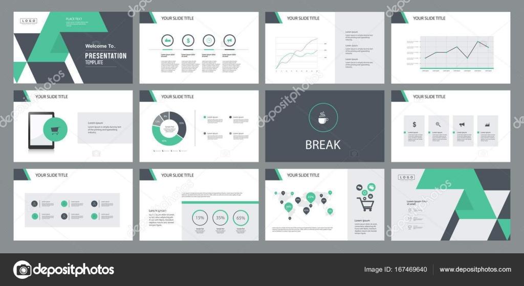 Design-Vorlage für geschäftliche Präsentationsfolie — Stockvektor ...