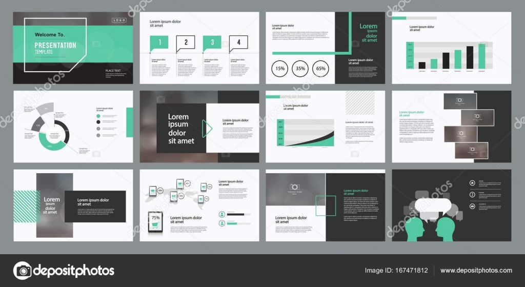 page layout design for business presentation design template stock
