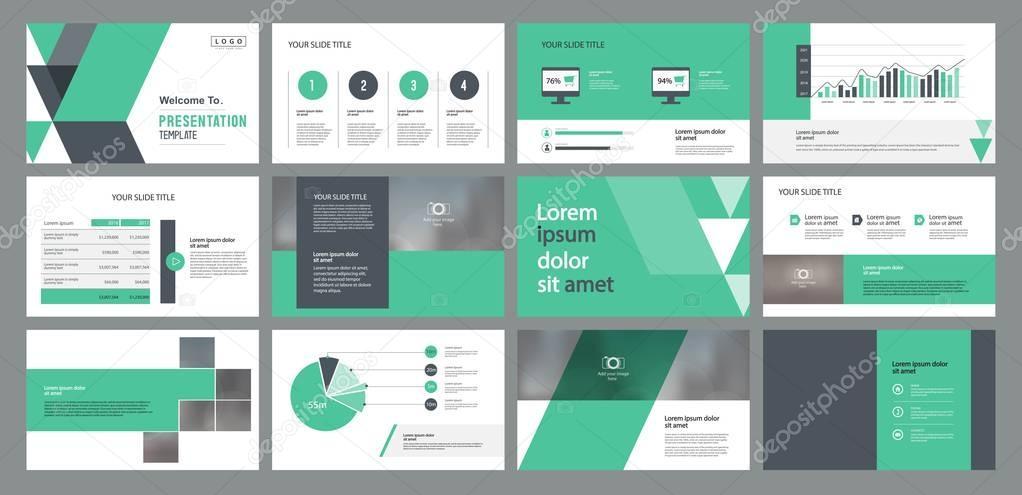 Modèle de conception de diapositive de présentation d