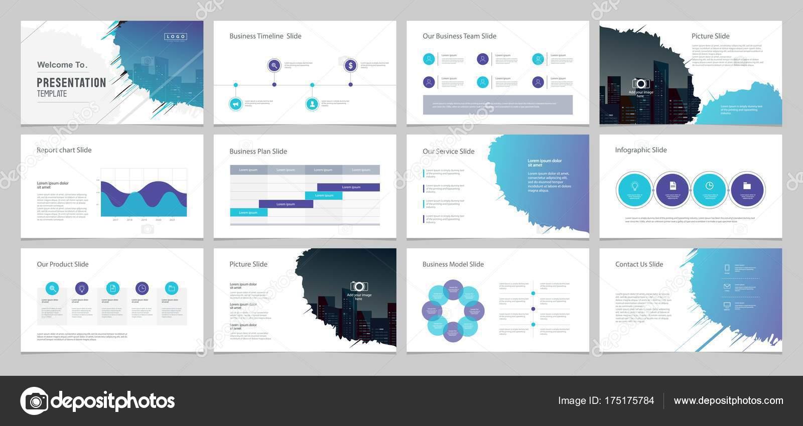 Projeto Modelo Layout Empresarial Apresentação Página Com
