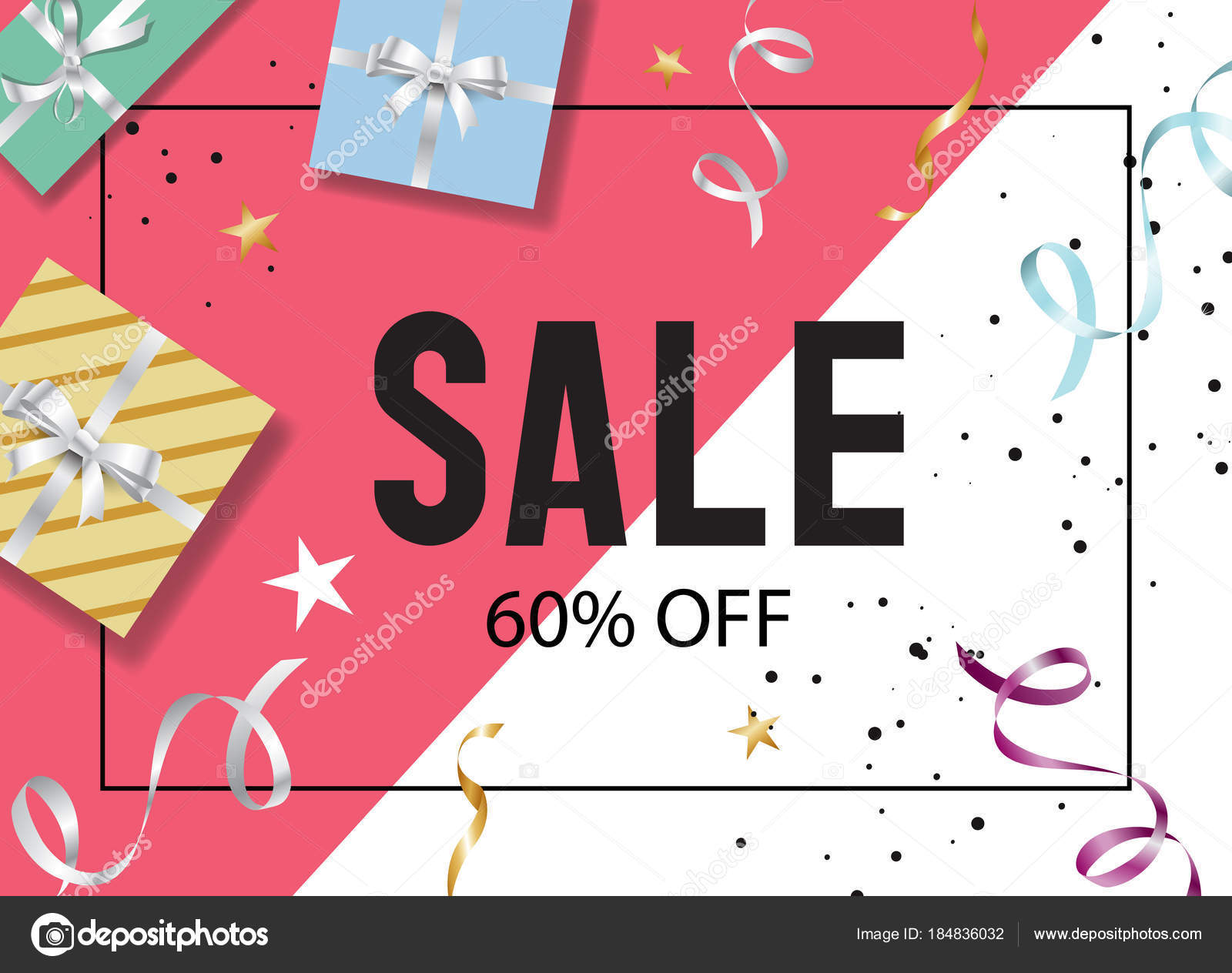 happy new year sale banner design template stock vector