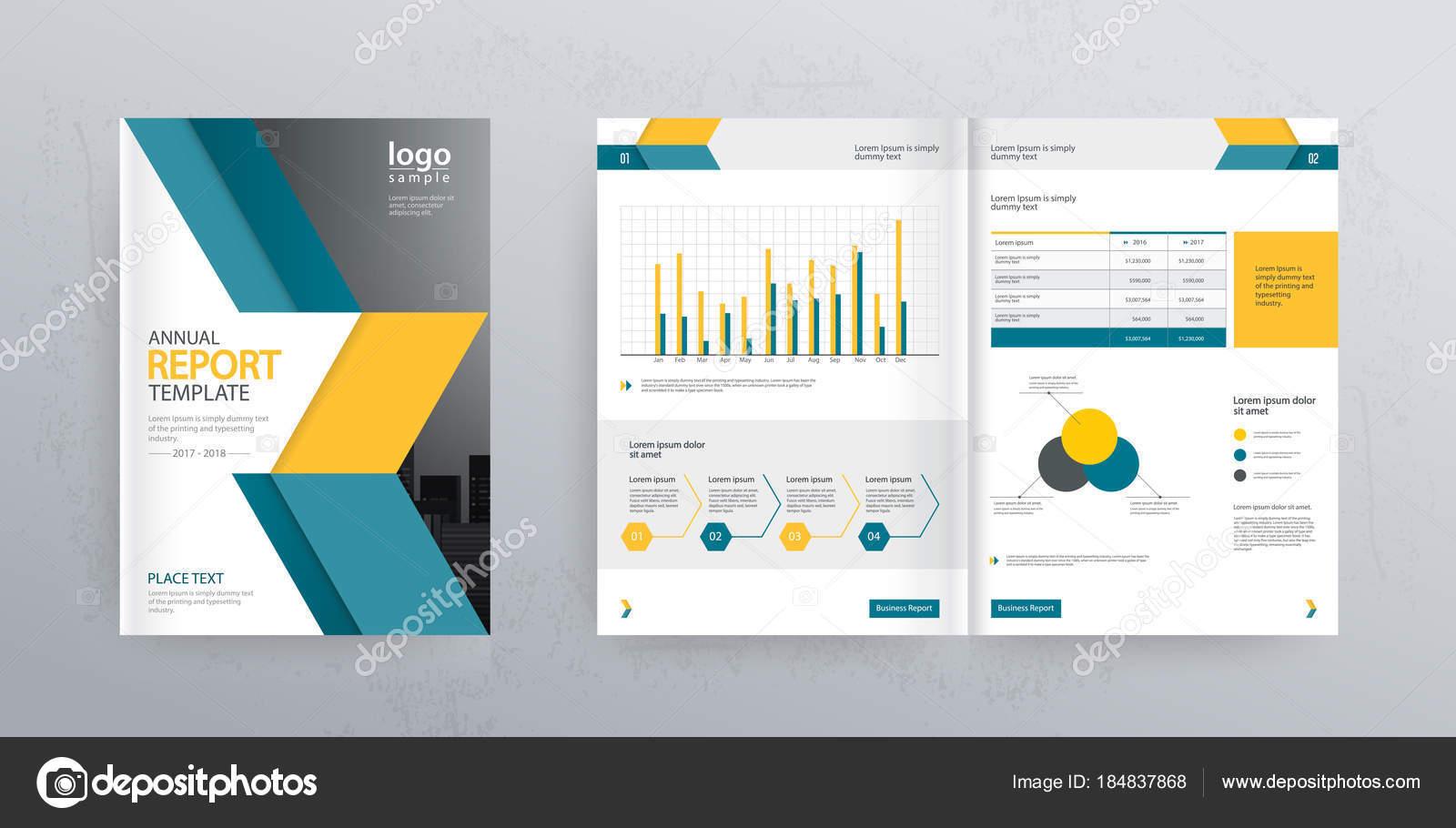 Template Layout Design Mit Deckblatt Für Firmenprofil ...