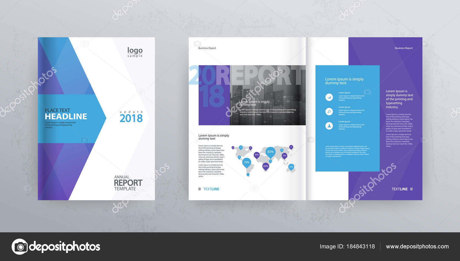 template layout design cover page company profile annual report brochures stock vector