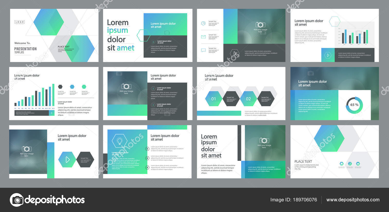abstract business presentation template design page layout design