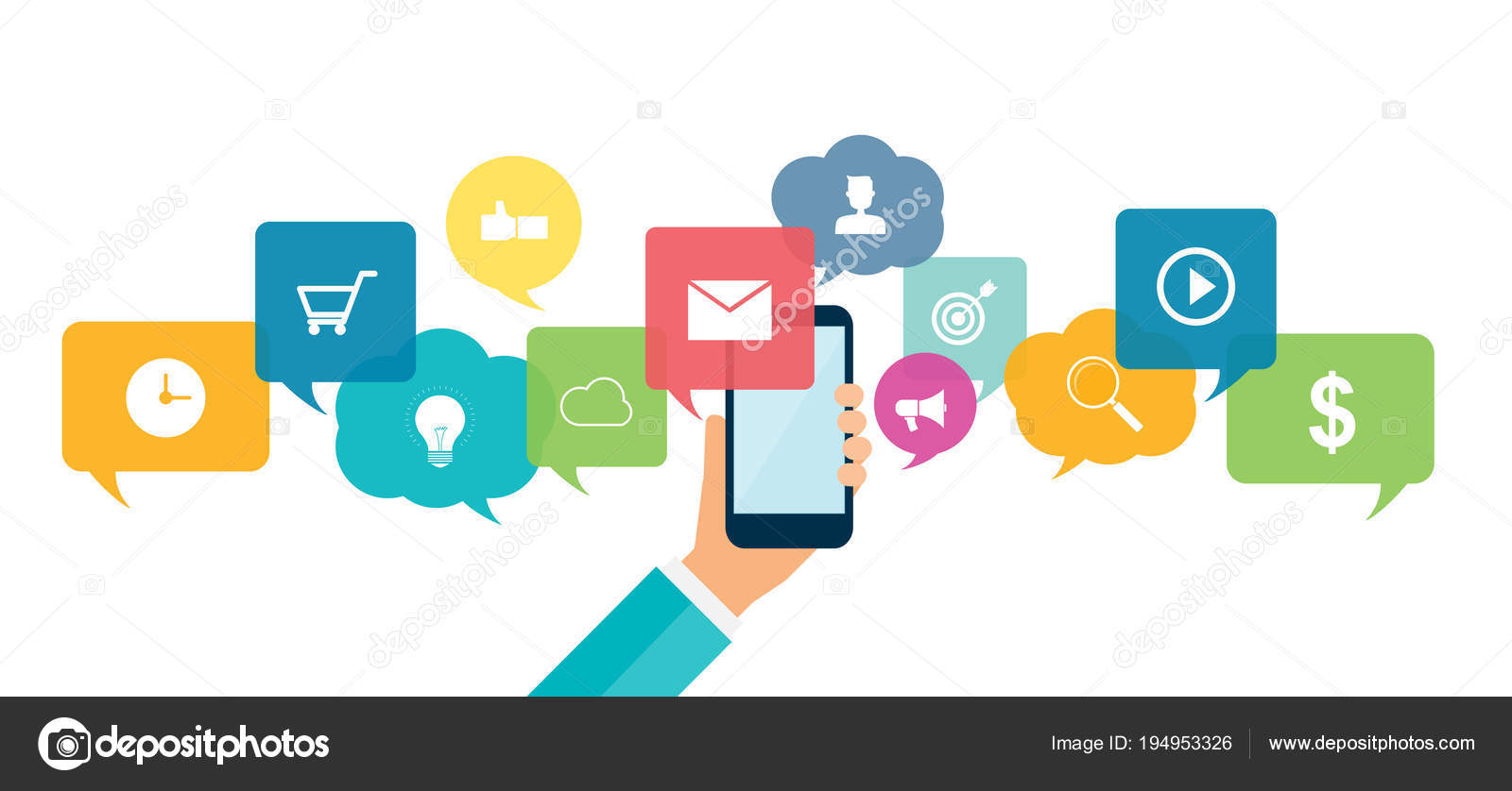Social Network Connection Online Business Background Concept ...