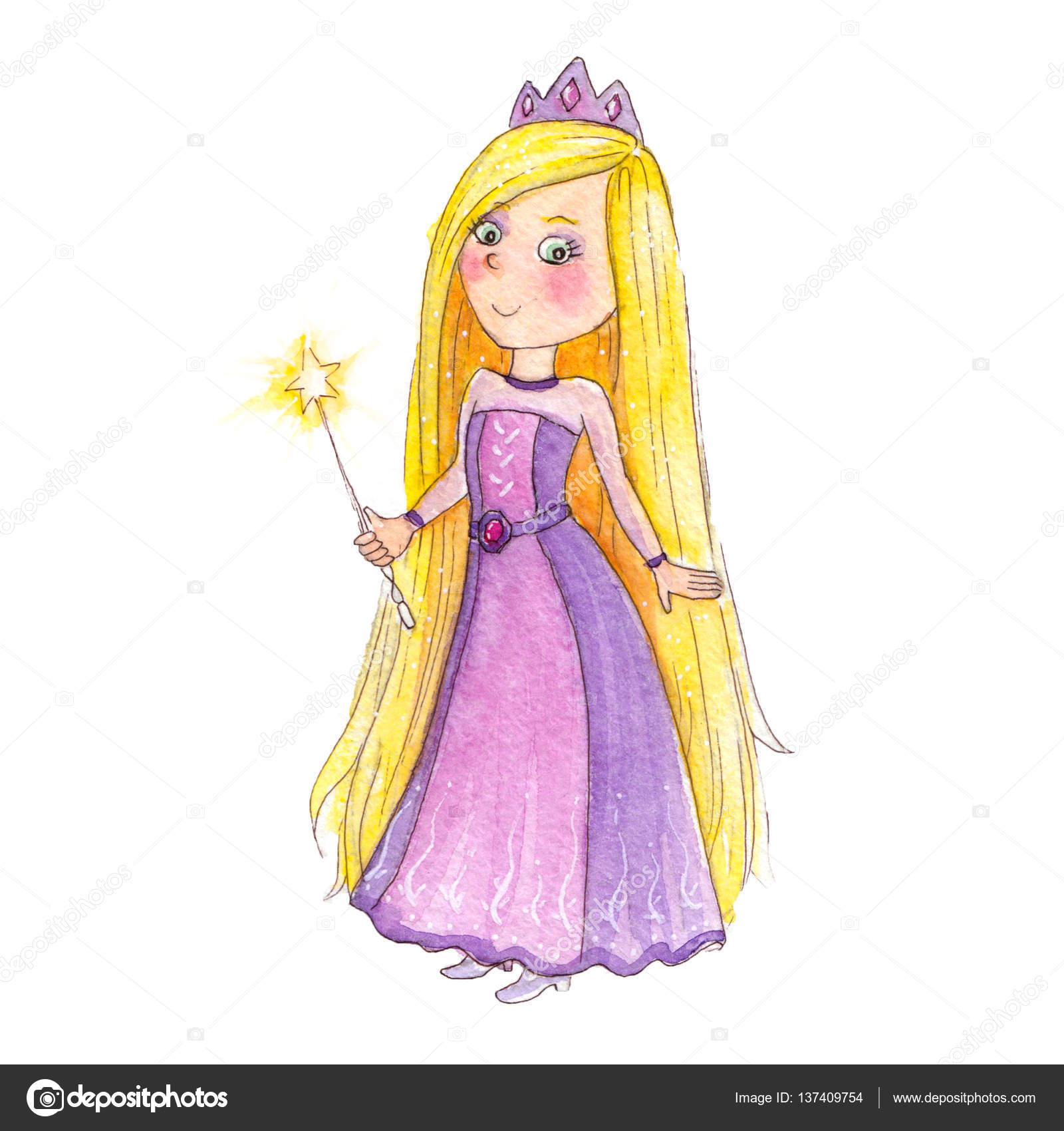 Personnage De Dessin Magnifique D Une Petite Princesse