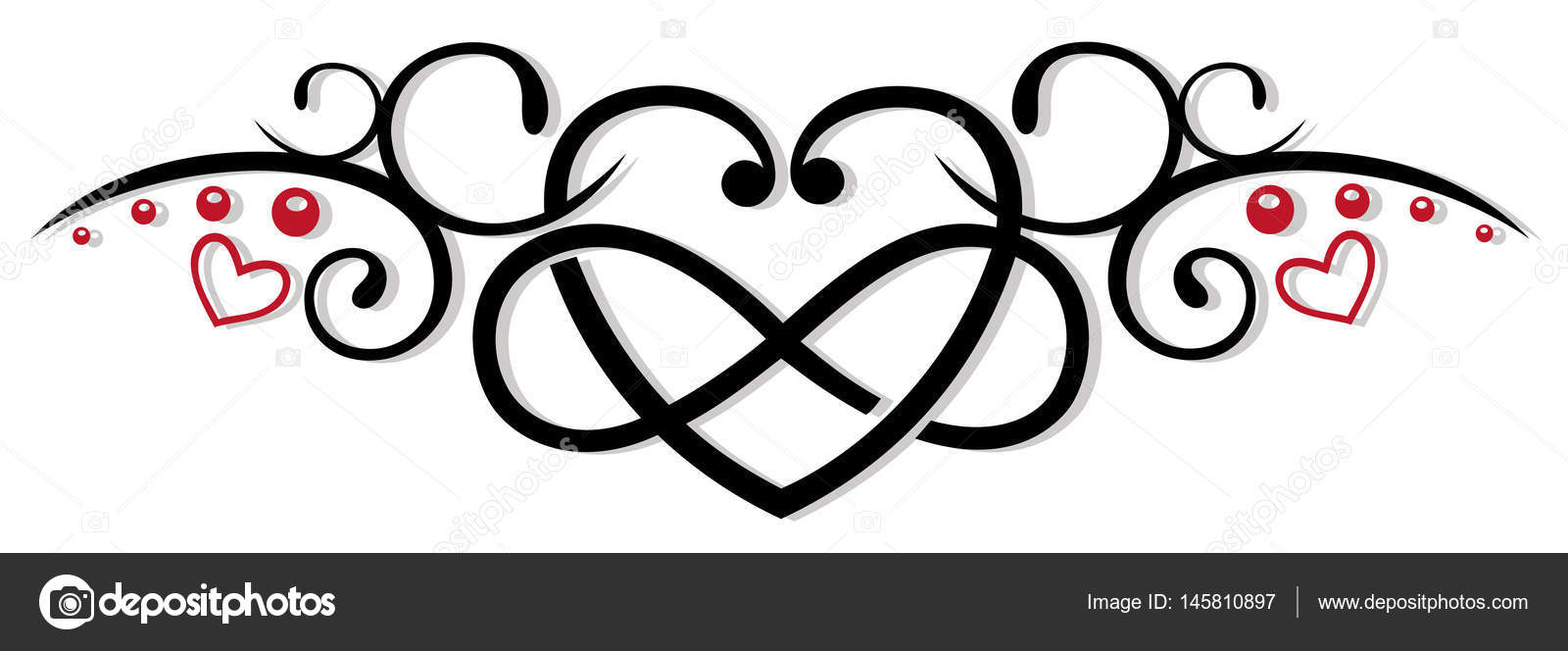 d7d8a05d0cab7 Infinity, heart, love — Stock Vector © christine_krahl #145810897