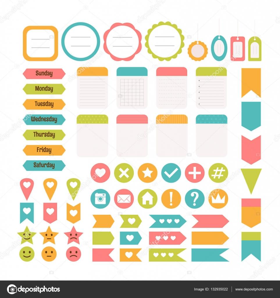 Design-Elemente für Website. Vorlage für Notebooks. Monatliche pla ...