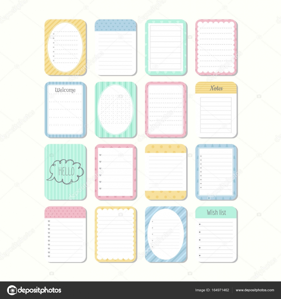 image relating to Note Paper Template identify Lovely notepad template Sheets of paper. Template notepad