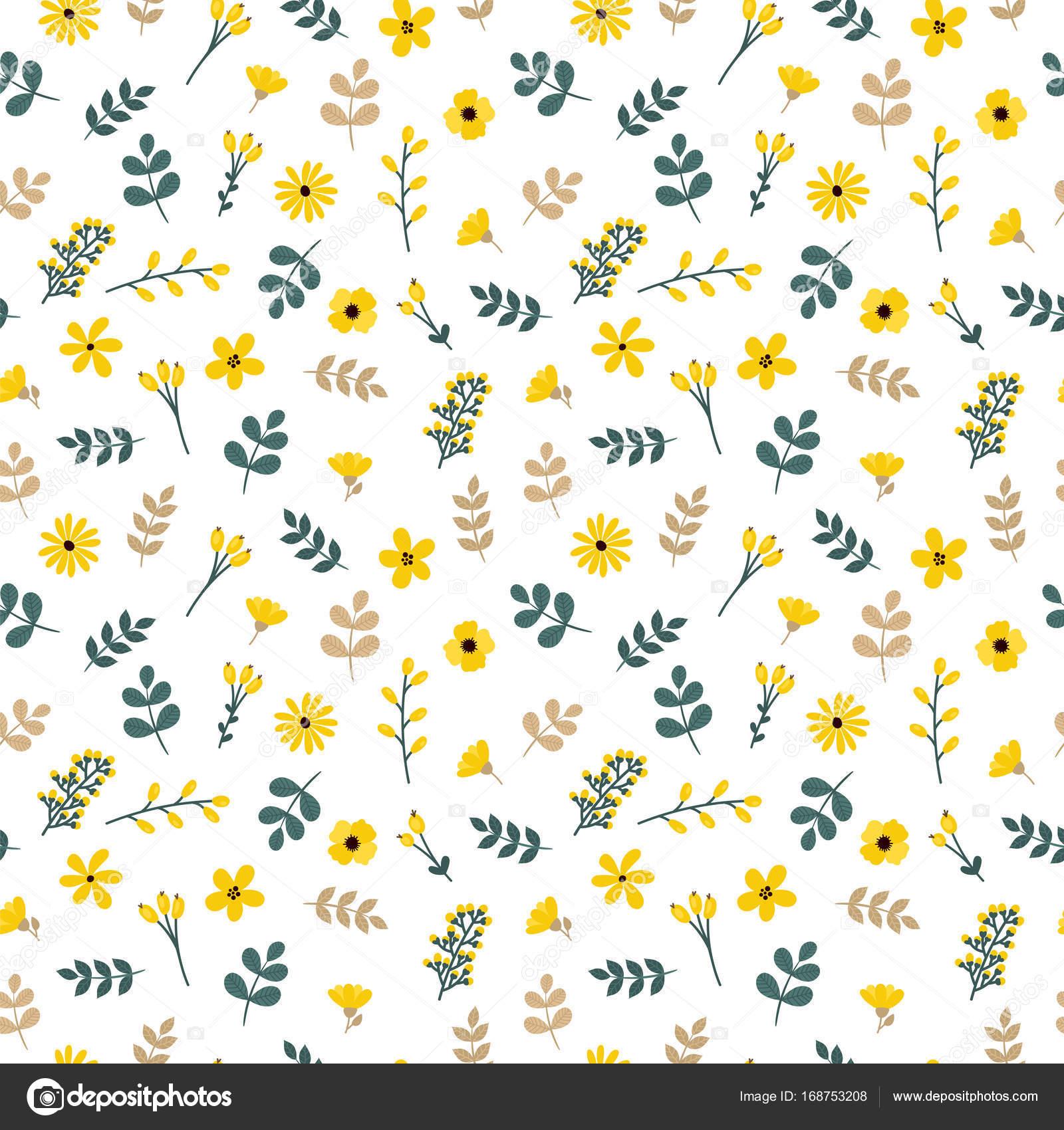 Lindo patrón transparente floral con hojas y flores. Fondo primavera ...