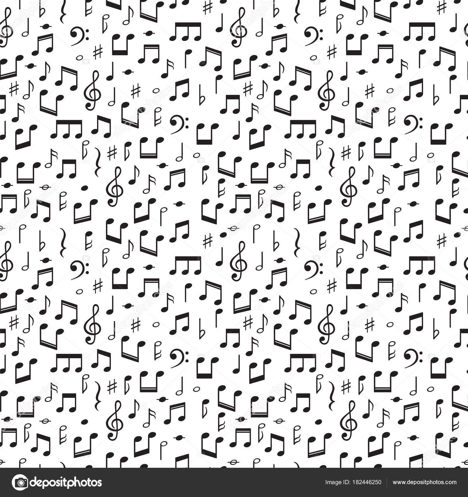 Seamless pattern with music notes hand drawn background with seamless pattern with music notes hand drawn background with music symbols stock vector biocorpaavc Images