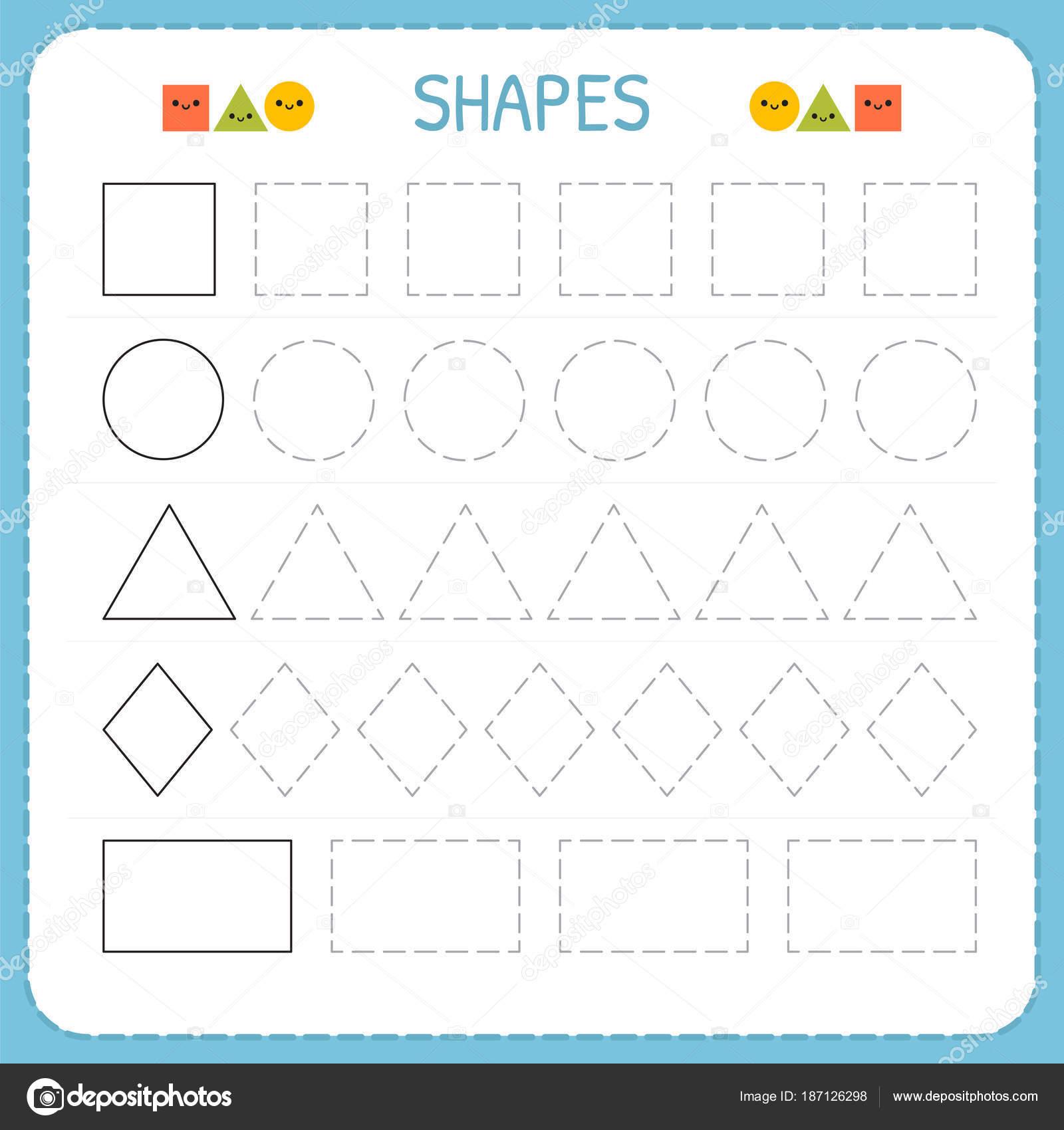 Aprender las formas y figuras geométricas. Hoja de trabajo para ...