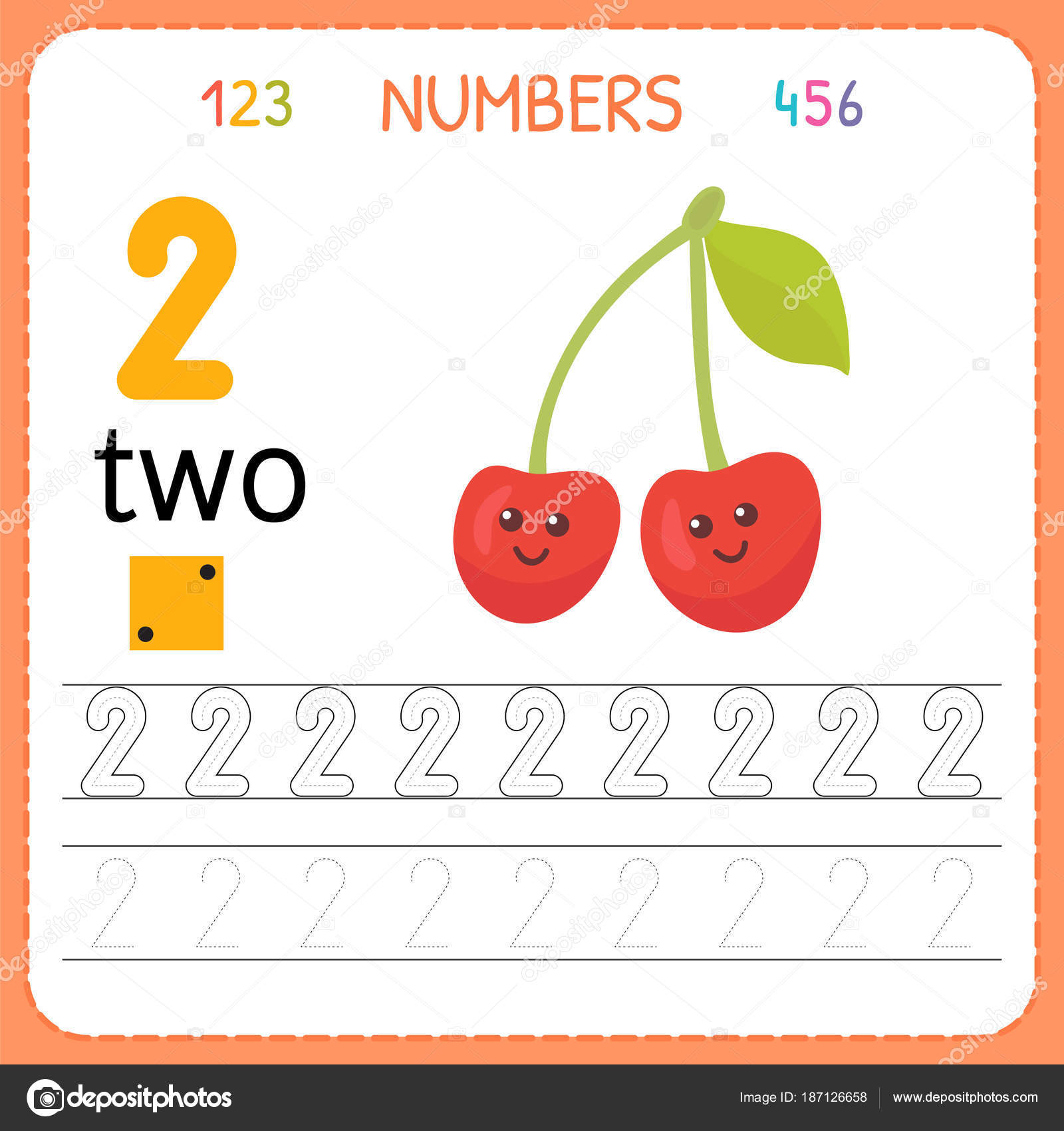 Hoja de trabajo de seguimiento números para preescolar y ...
