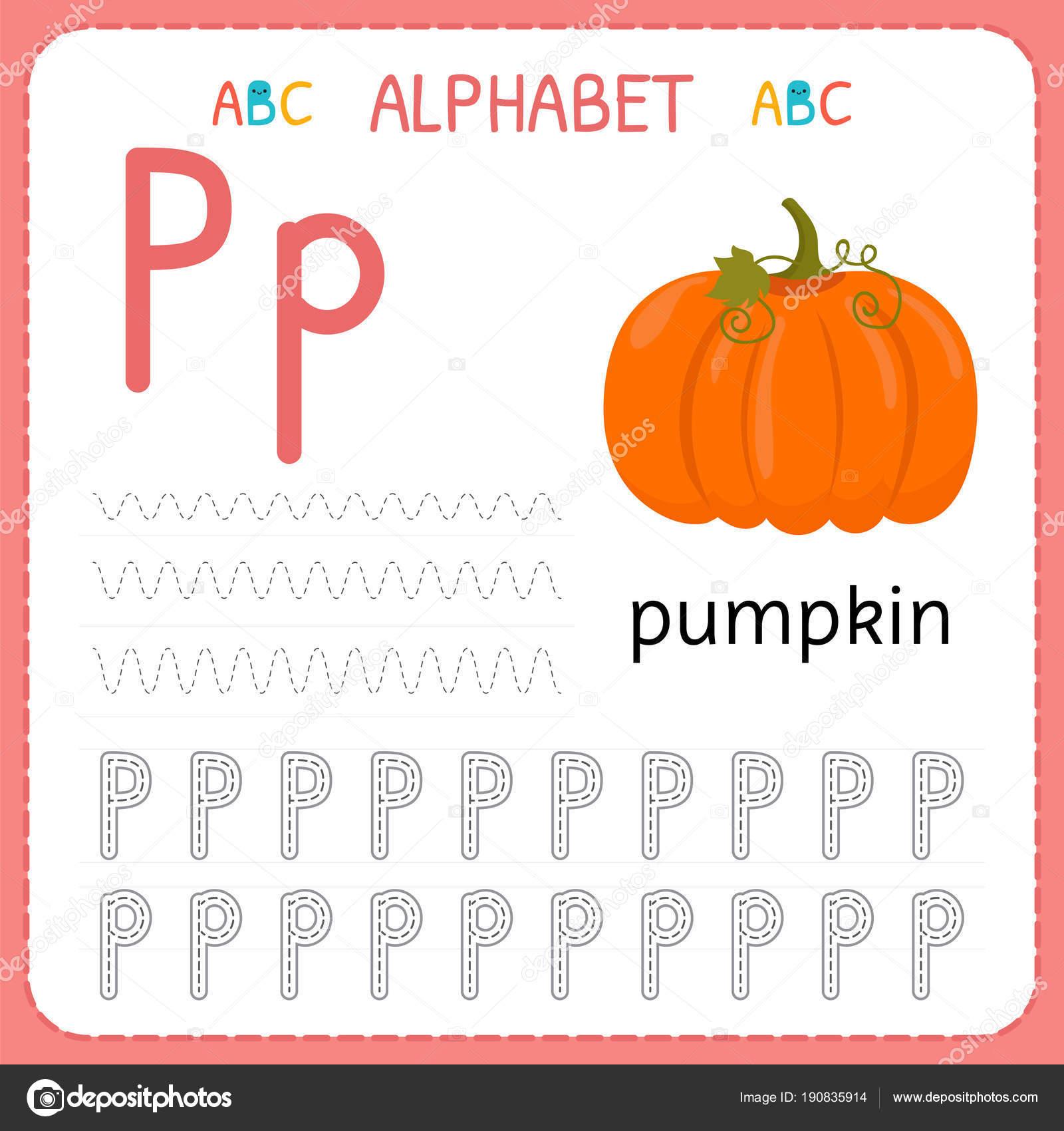 Hoja de trabajo de seguimiento alfabeto para preescolar y ...