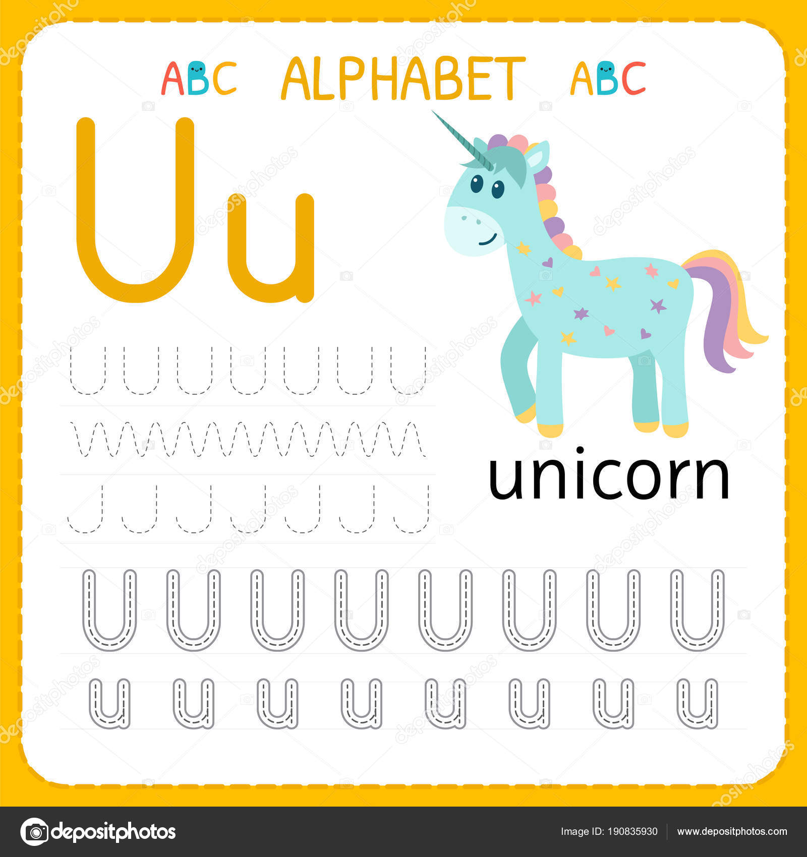 Alphabet tracing worksheet for preschool and kindergarten. Writing ...