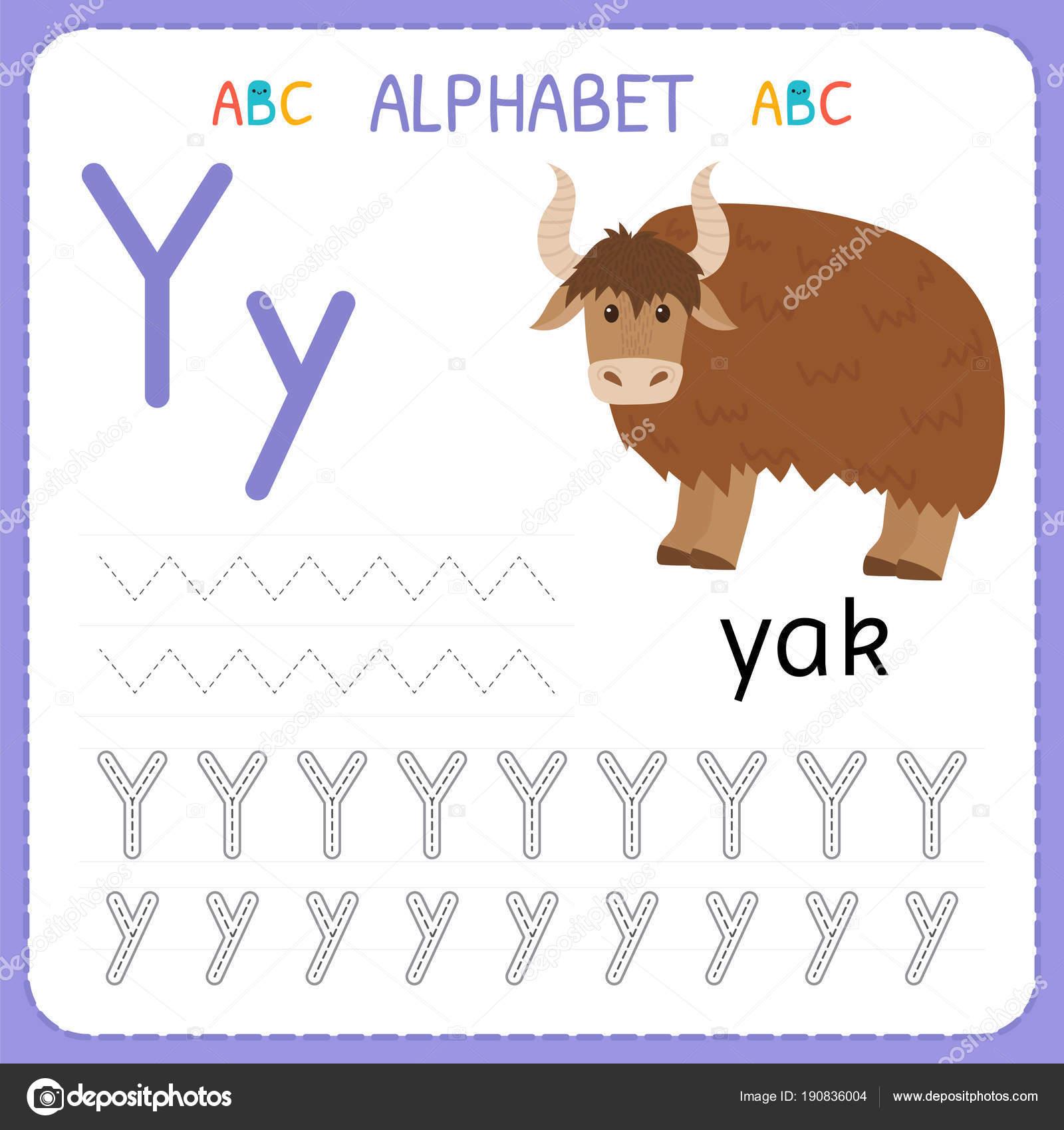 Alphabet-Ablaufverfolgung-Arbeitsblatt für Vorschule und ...