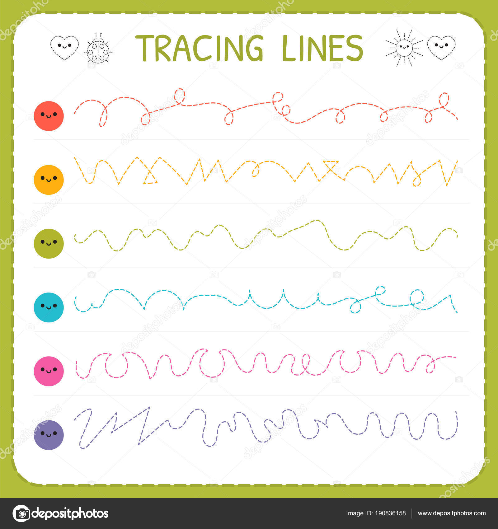 Tracing Lines Basic Writing Worksheet For Kids Working Pages For