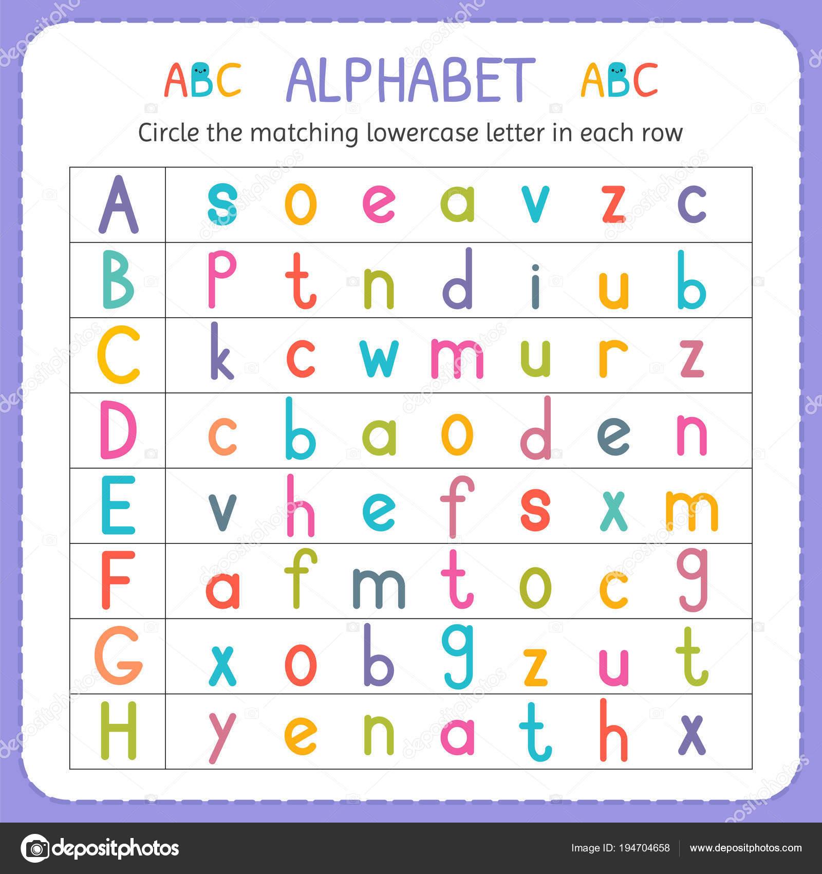 Kreise den passenden Kleinbuchstaben in jeder Zeile. Von A bis H ...