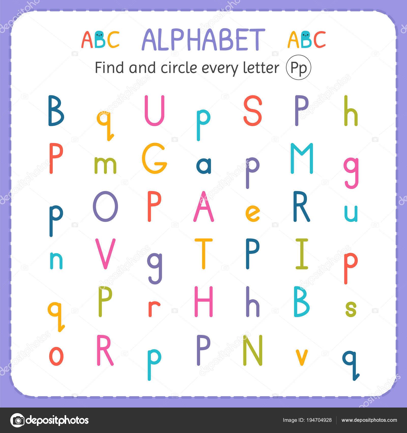 Suche und Kreise jeden Buchstaben s. Arbeitsblatt für Kindergarten ...