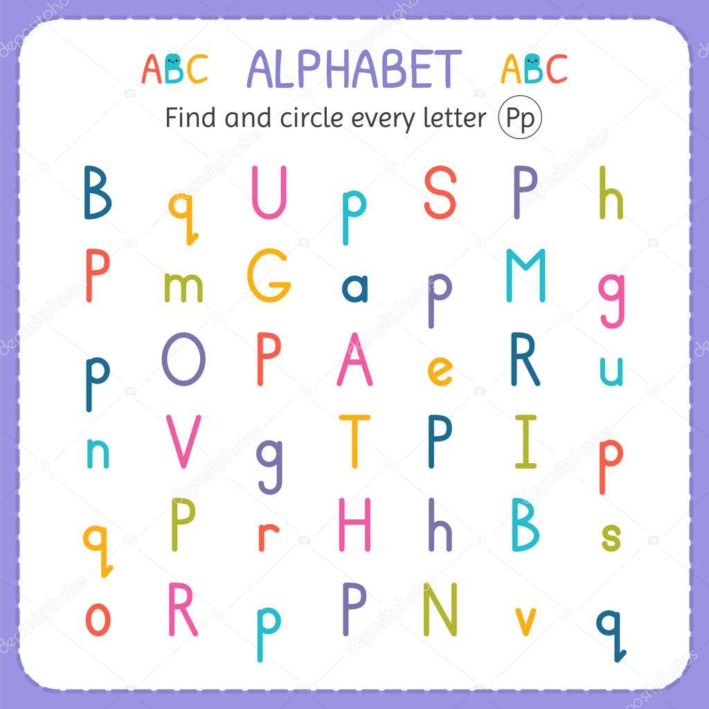 Trouver et encerclez chaque lettre P. feuille de calcul ...