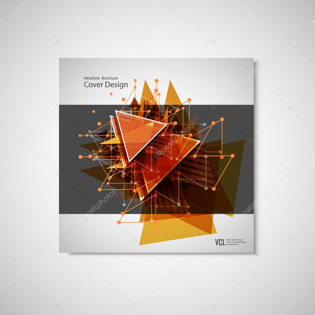 abstract triangle line poster brochure flyer design layout vector
