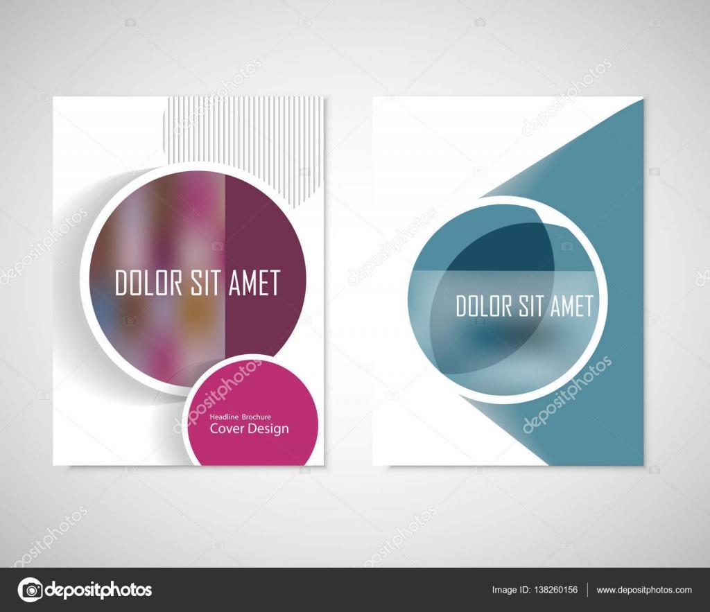 Voorkeur Vuile cirkels met tekst op de brochure voor uw ideeën. Presentatie @WC57