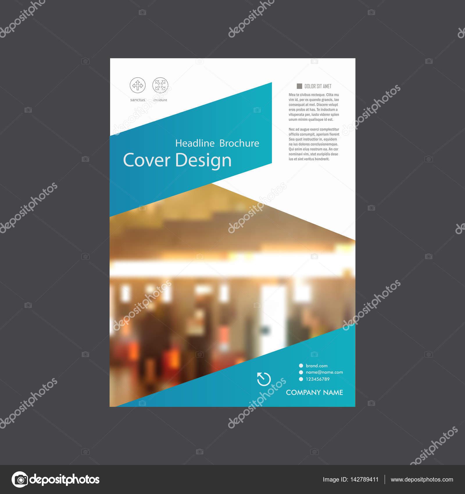 Jährlichen Berichts Broschüre Flyer Vorlage A4-Vektor-Design, Buch ...