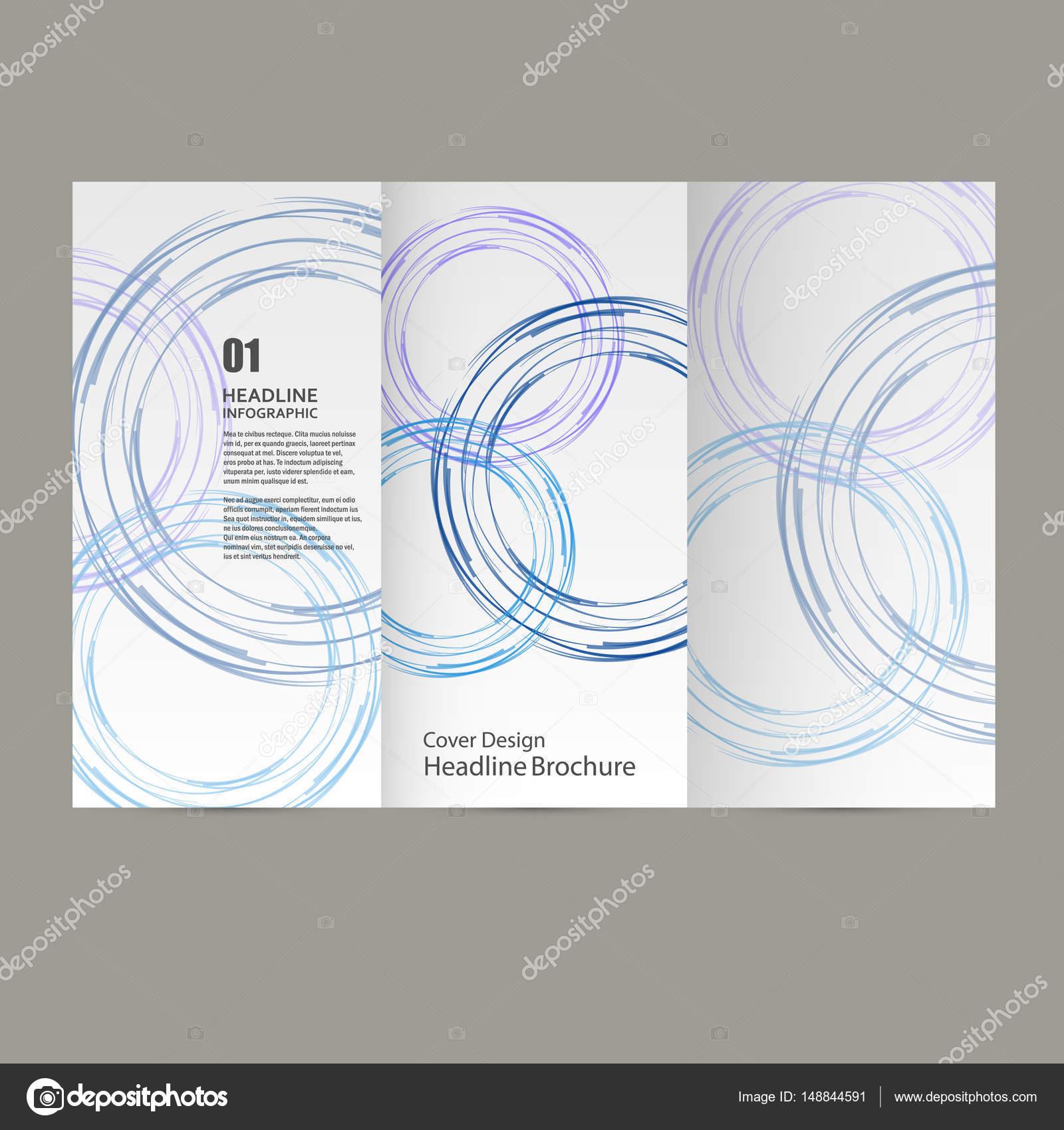 Kreis Vektor Jahresbericht Broschüre Flyer Template-Design, Buch ...