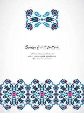 Arabesque vintage seamless border for design template vector
