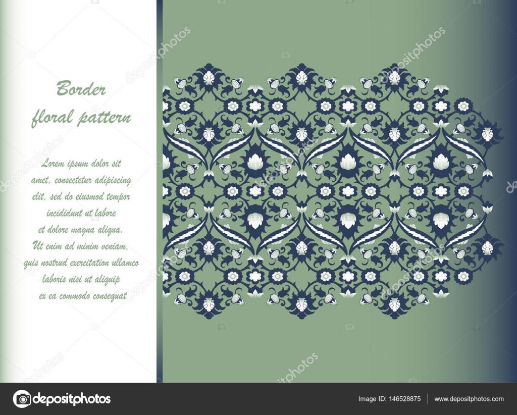 Arabesque Vintage verzierten Grenze eleganten Blumenschmuck für ...