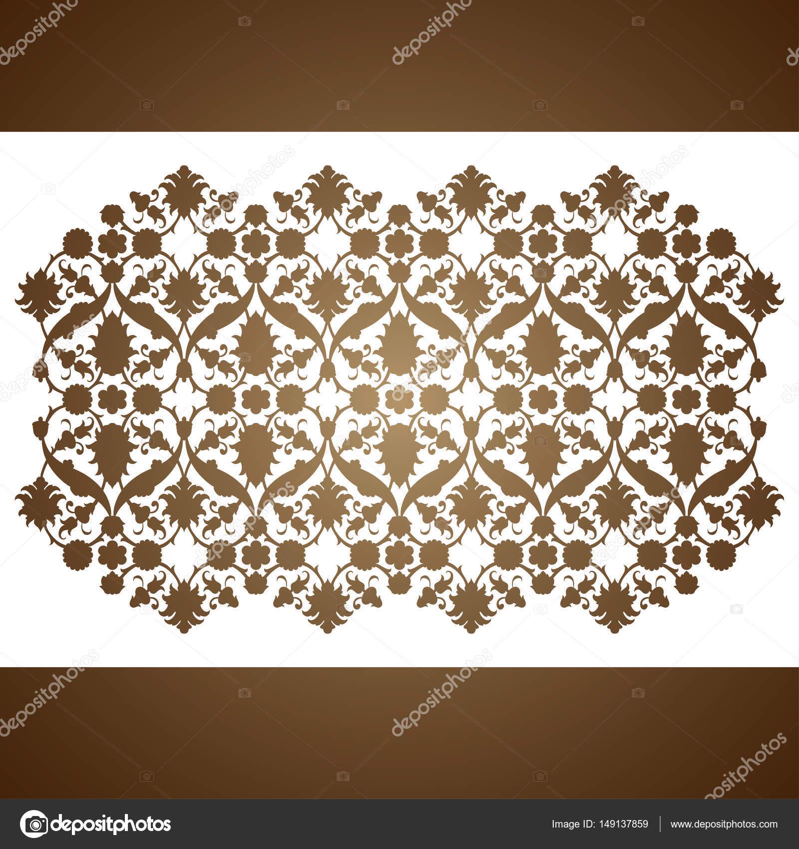 Vector de arabescos florales ornamento patrón del corte del laser ...