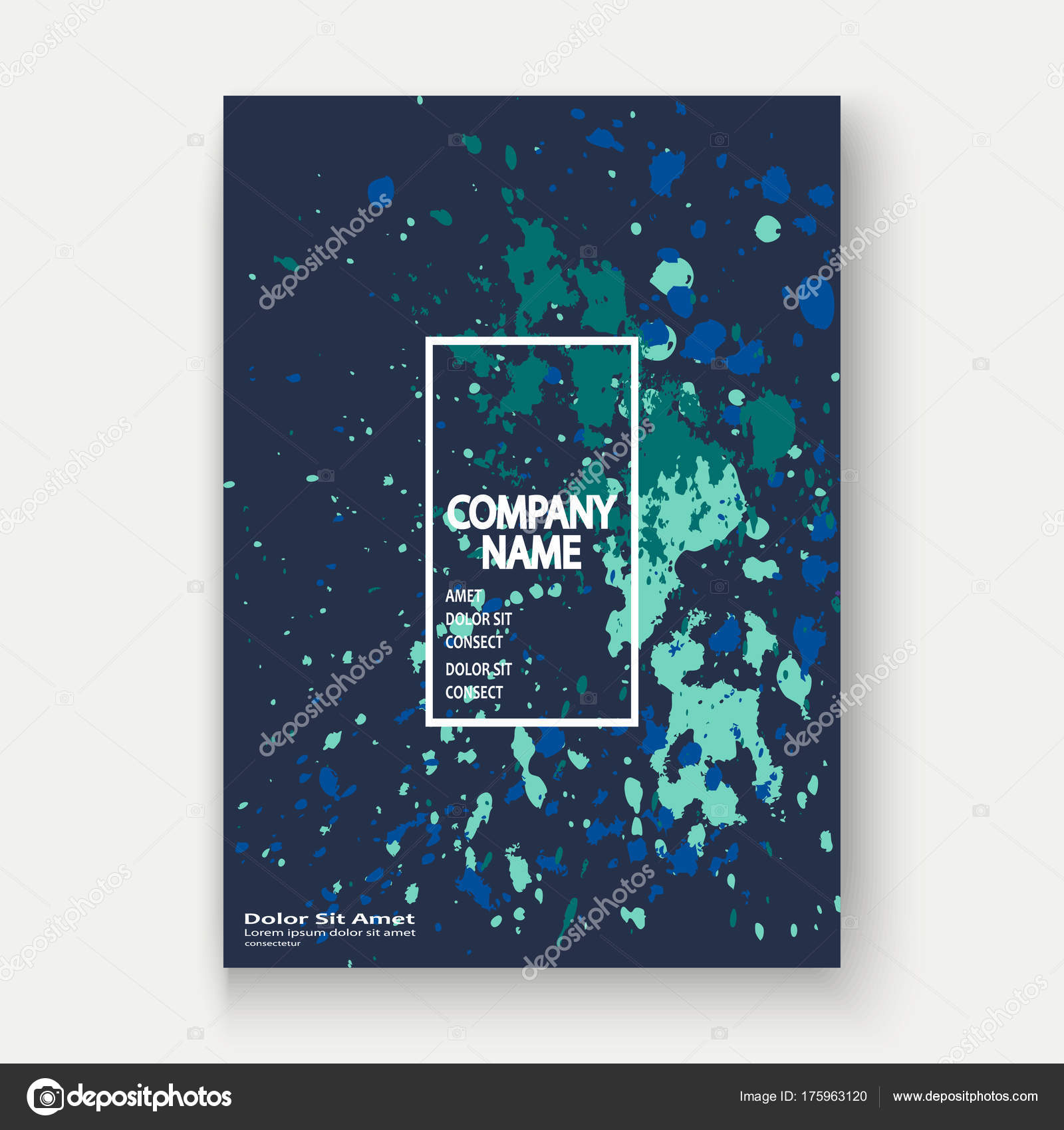 Neon Explosion Farbspritzer künstlerische Cover Rahmen-Design. Dekor ...