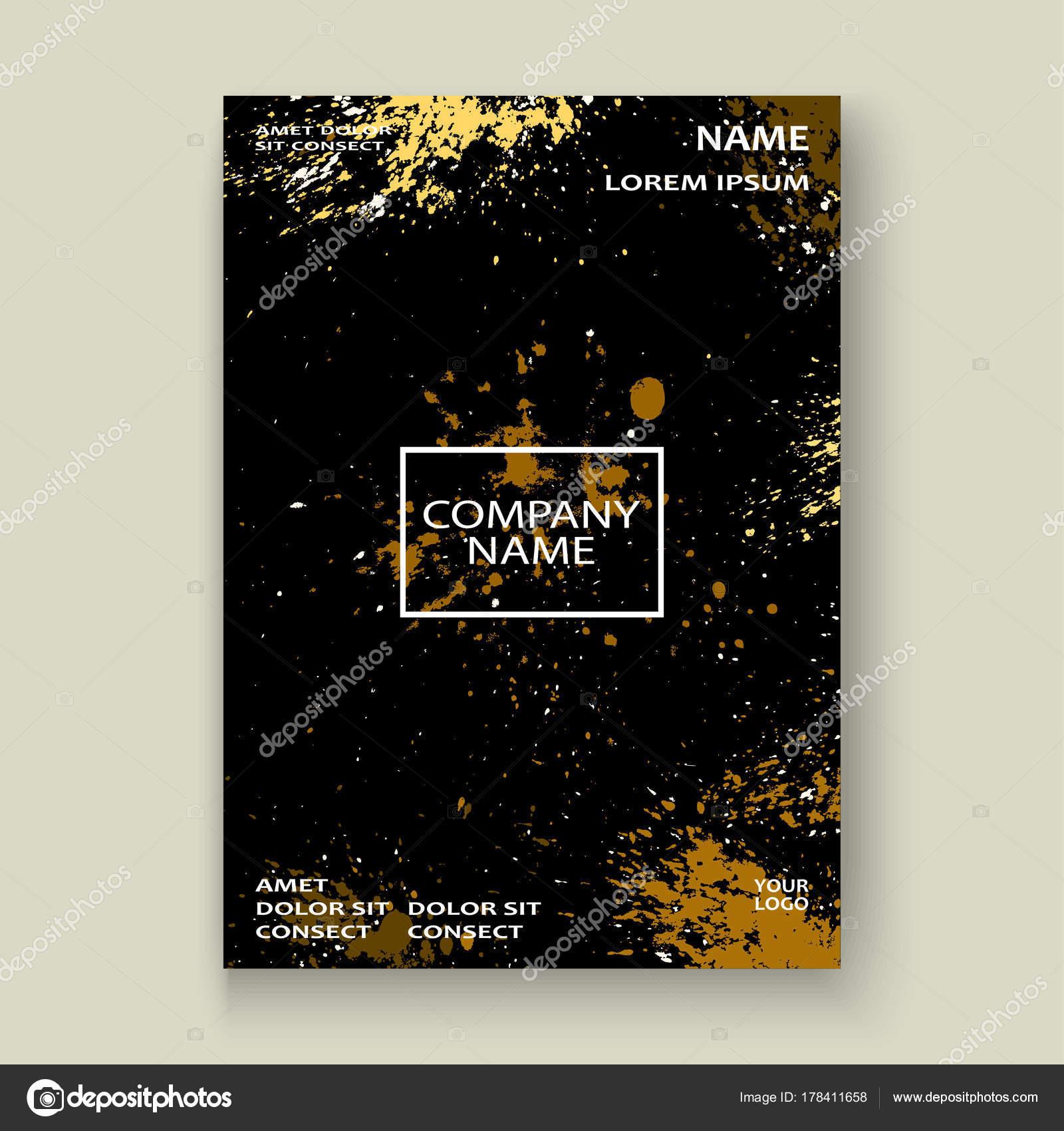 Gold Explosion Farbspritzer künstlerische Cover Rahmen-Design. Dekor ...