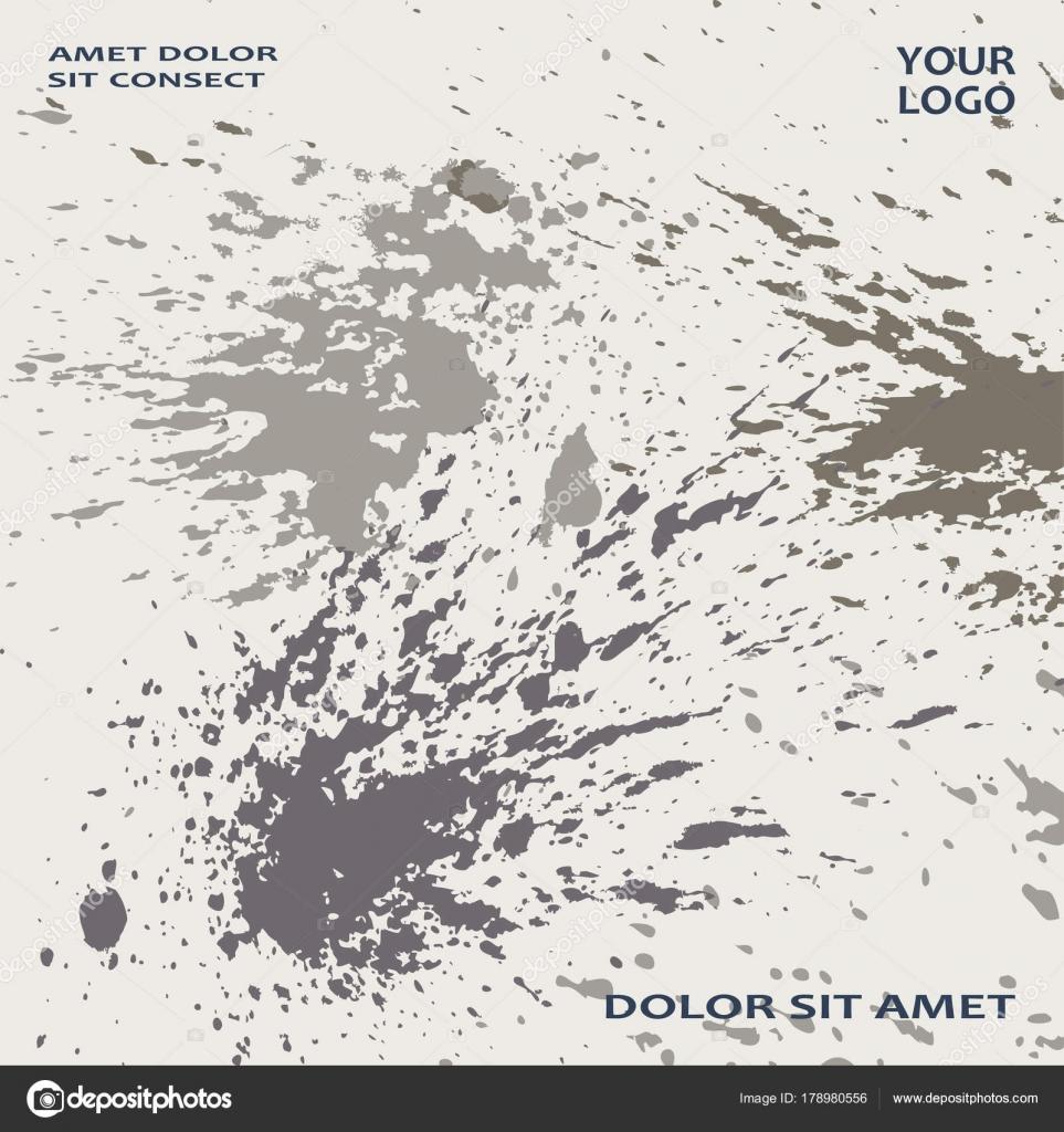 Graue Explosion Farbe Splatter künstlerische Cover Rahmen-Design ...