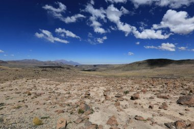 Peruvian landscape in the Andes mountains