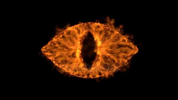 planoucí ďábel oko