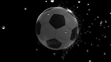 ball moving through raindrops